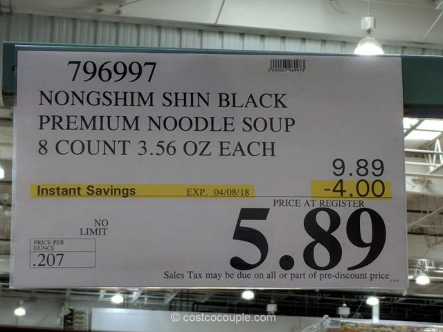 Nongshim Shin Black Premium Noodle Soup Costco