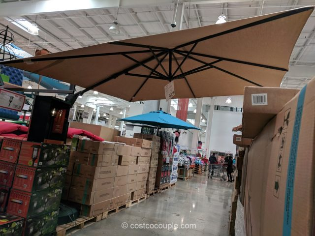 Car Battery Costco >> Proshade Square Cantilever Umbrella