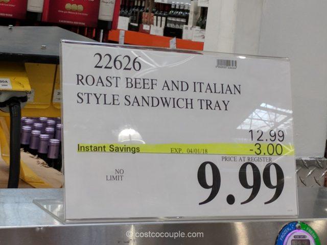 Kirkland Signature Roast Beef and Italian Style Sandwich Tray Costco