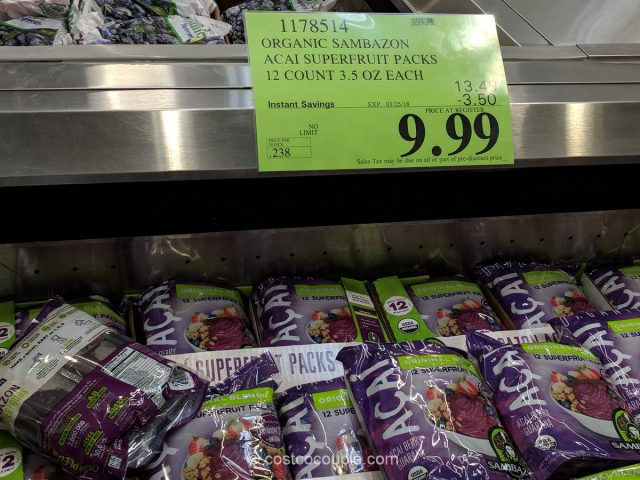 Sambazon Organic Acai Costco