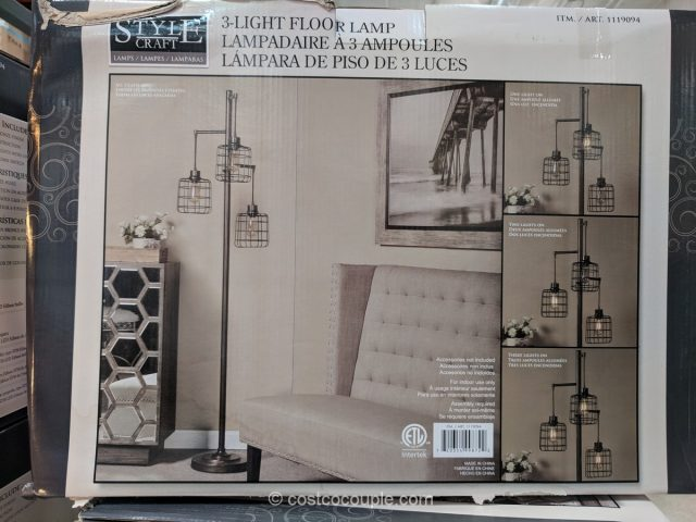 Style Craft 3 Arm Floor Lamp