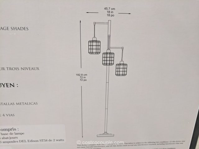 Style Craft 3-Arm Floor Lamp Costco