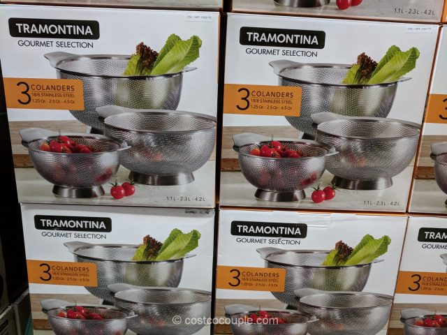 Tramontina Stainless Steel Colander Set Costco