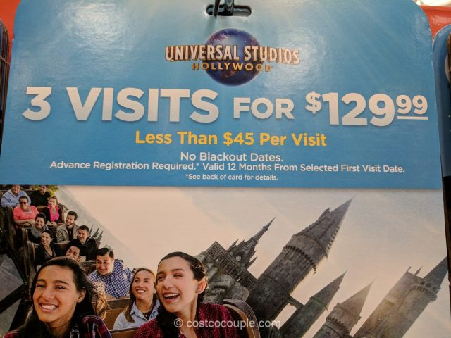 Universal Studios Hollywood 3 Visit Ticket Costco