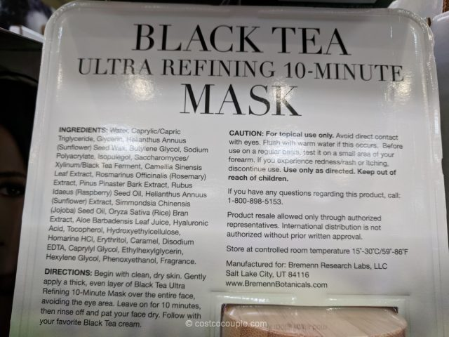 Bremenn Black Tea Facial Mask Costco