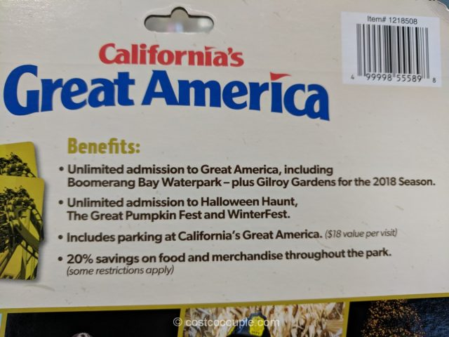 California's Great America 2018 Adult Gold Pass Costco