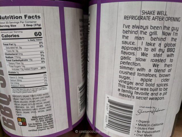 Haks Organic Brown Sugar BBQ Sauce Costco
