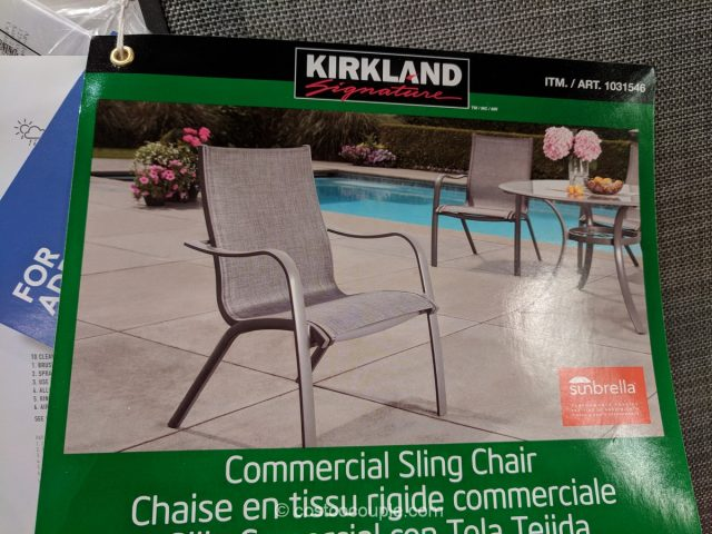 Kirkland Signature Commercial Sling Chair Costco Kirkland Signature  Commercial Sling Chair Costco ...