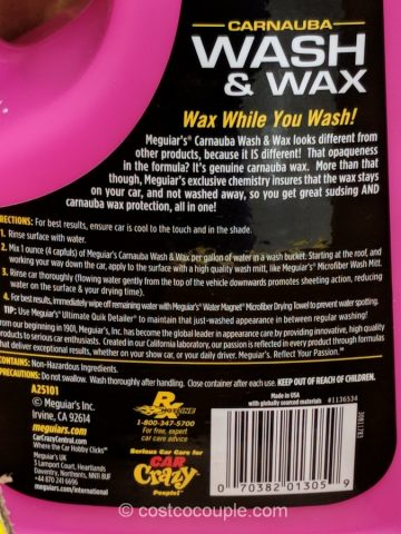 Meguiars Car Wash and Wax Costco