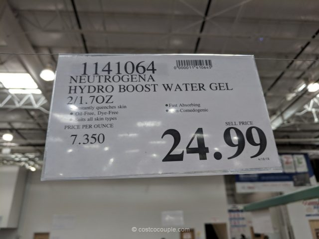 Neutrogena Hydro Boost Water Gel Costco