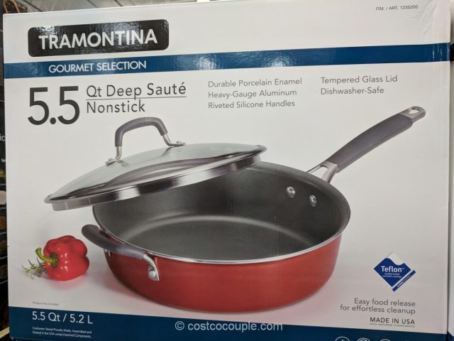 Tramontina Nonstick Deep Saute Pan Costco