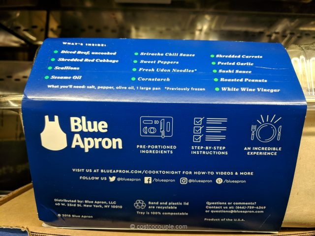Blue Apron Meal Kit One-Pan Beef Stir-Fry Costco