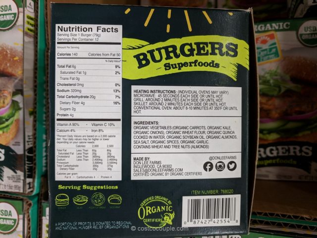 Coupon For Oil Change >> Don Lee Farms Organic Superfood Burgers