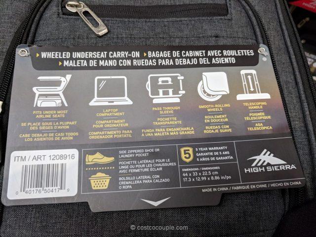 High Sierra Wheeled Underseat Carry-On Costco