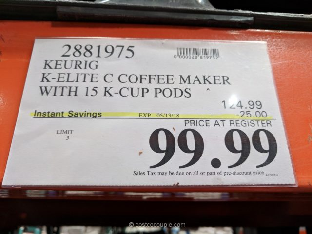 Keurig K Elite C Coffee Maker
