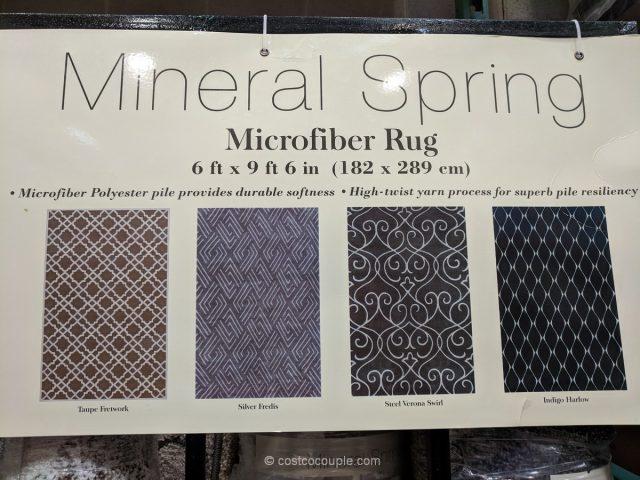Mineral Springs Microfiber Area Rug Costco