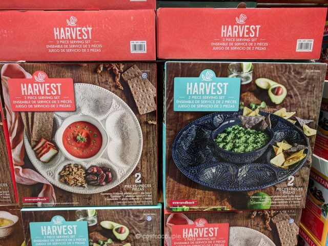 Over and Back Harvest 2-Piece Serving Set Costco