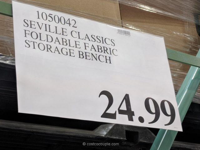 Seville Classics Foldable Storage Bench Costco