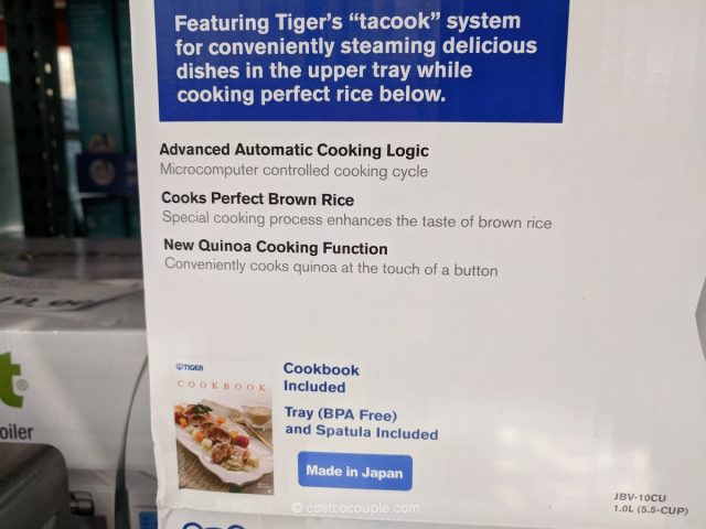 Tiger Rice Cooker Model#JBV-10CU Costco