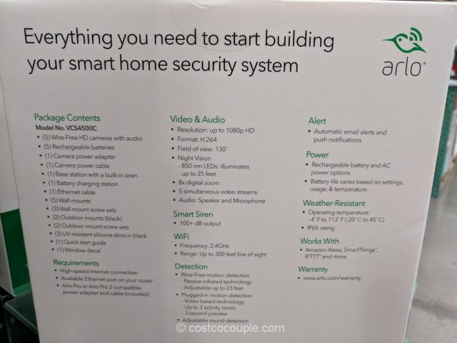 Arlo Pro 2 HD Security System Costco