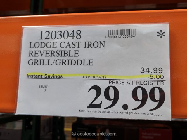 Lodge Cast Iron Reversible Griddle Grill Set Costco