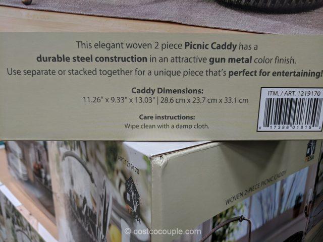 Mesa Woven Picnic Caddy Costco