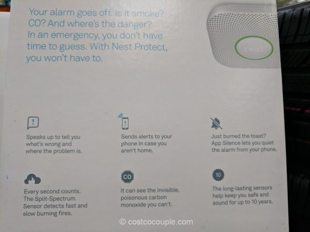 Nest Protect Smoke and Carbon Monoxide Detector Costco