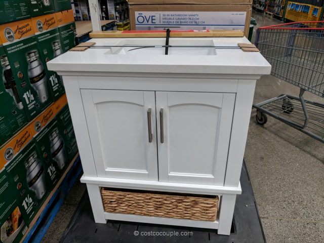 Ove Decors 30-Inch White Vanity Costco