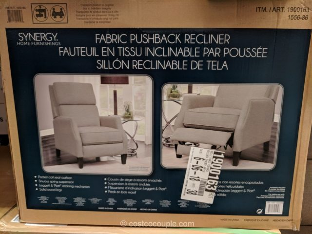 Synergy Home Fabric Pushback Recliner Costco