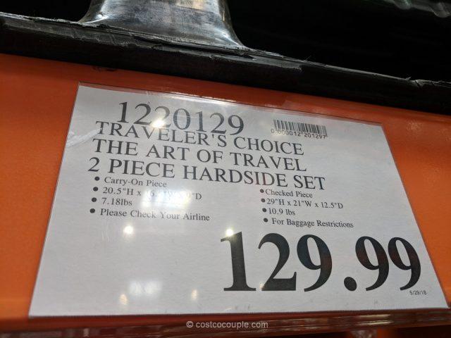 Traveler's Choice 2-Piece Hardside Set Costco