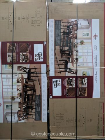 Bayside Furnishings 9-Piece Dining Set Costco