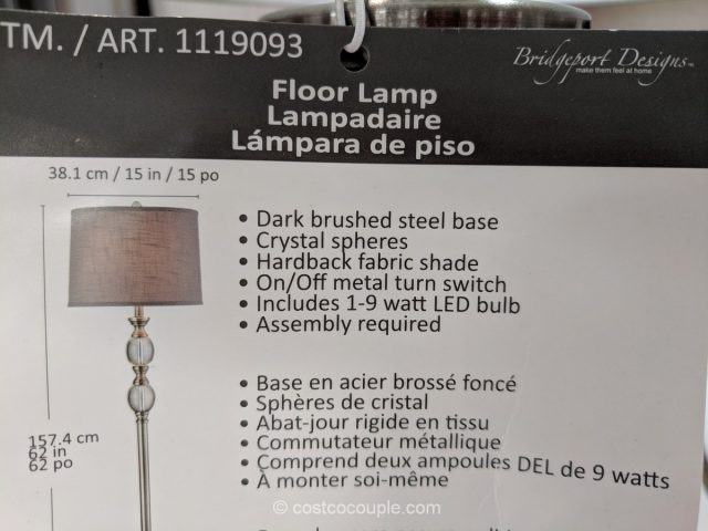 Bridgeport Designs Crystal Floor Lamp Costco