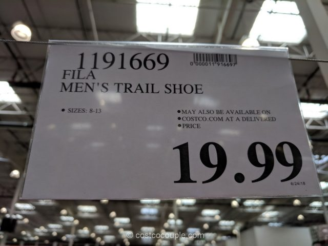Fila Men S Trail Shoe Costco