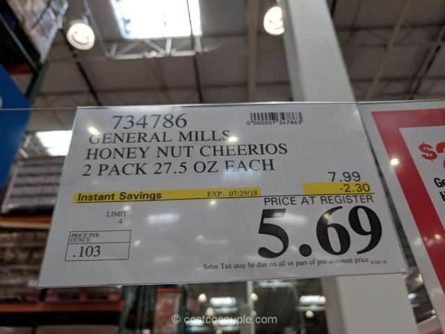 Honey Nut Cheerios Costco
