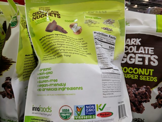 Inno Foods Organic Dark Chocolate Nuggets Costco