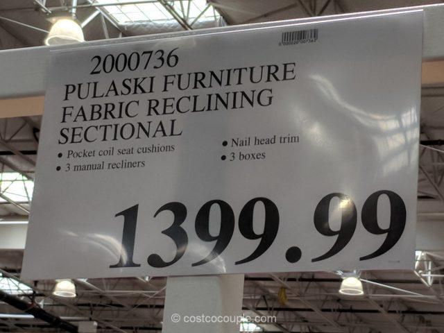 Pulaski Furniture Fabric Reclining Sectional Costco