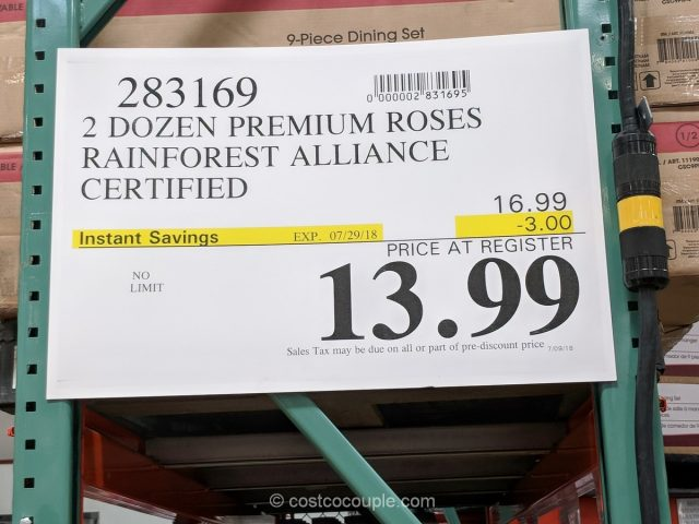 Rainforest Alliance Certified 2 Dozen Roses Costco