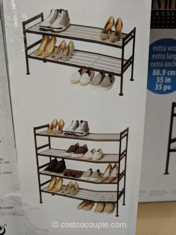 Seville Classics Stacking Shoe Rack Costco
