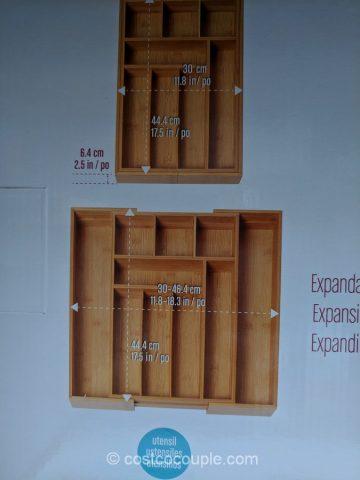 Seville Expandable Bamboo Drawer Organizer