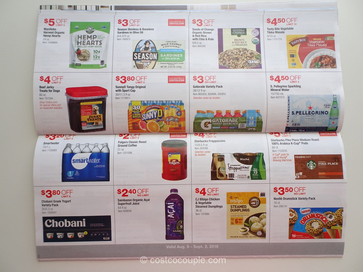 Costco August 2018 Coupon Book 08 09 18 To 09 02 18
