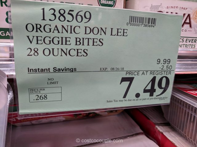 Don Lee Organic Veggie Bites Costco