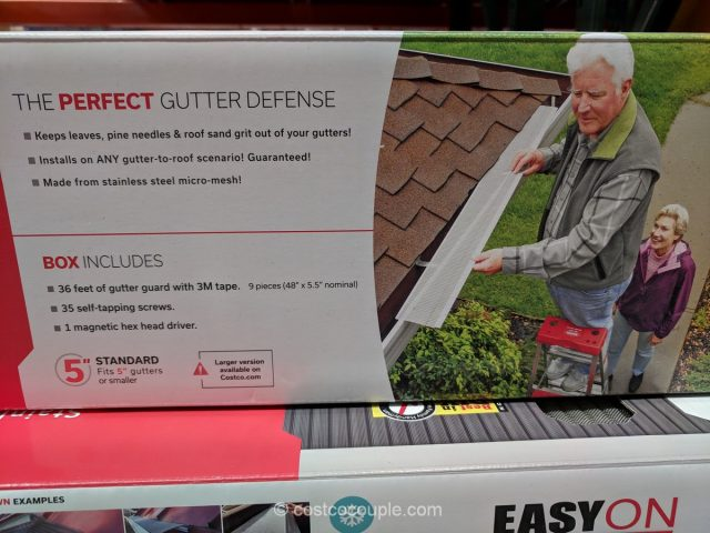 EasyOn Stainless Steel Gutter Guard Costco