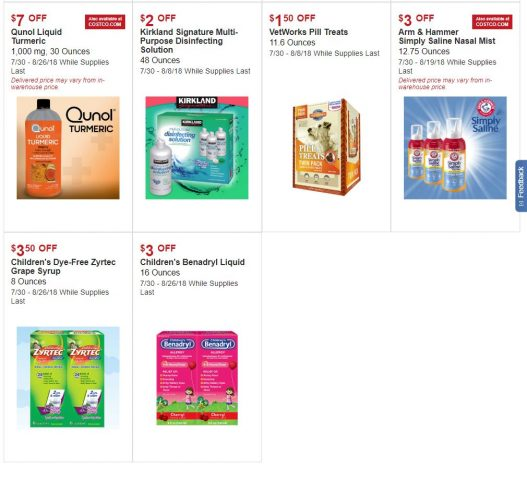 Costco Warehouse and Online Hot Buys