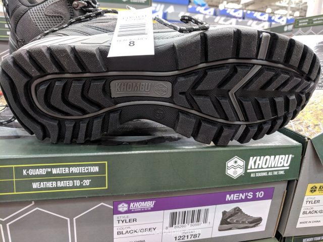 Khombu Men's Leather Hiker Costco