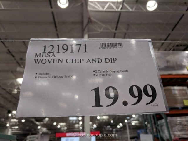 Mesa Woven Chip and Dip Set Costco