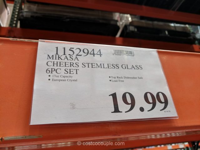 Mikasa Cheers Stemless Glass Set Costco
