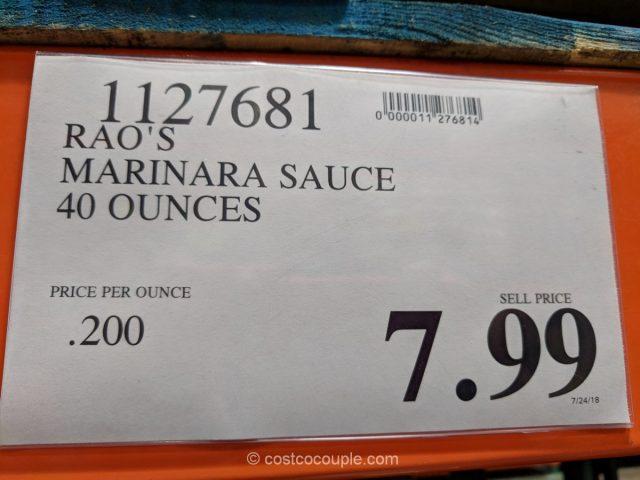Raos Homemade Marinara Sauce Costco
