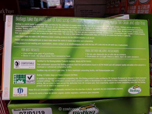 Biobag 13 Gallon Food Scrap Bags
