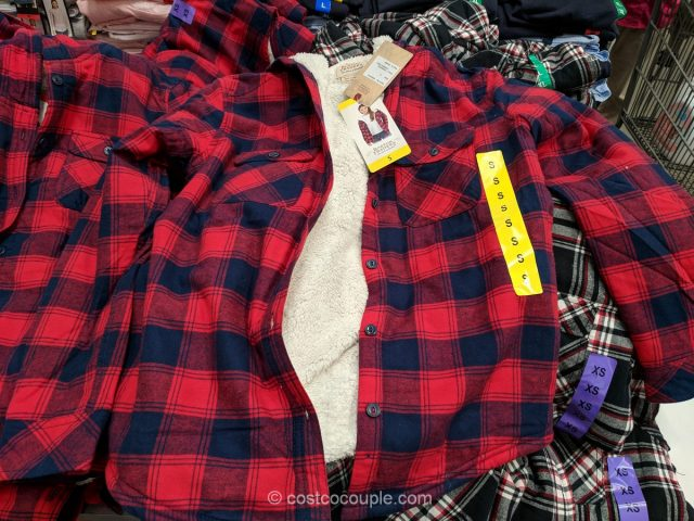 Boston Traders Ladies' Sherpa-Lined Hooded Flannel Costco