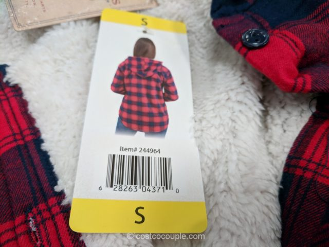 Boston Traders Ladies Sherpa Lined Hooded Flannel